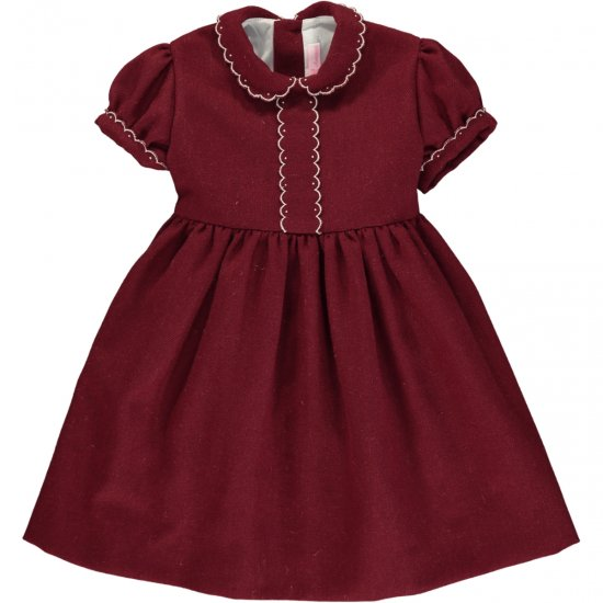 <img class='new_mark_img1' src='https://img.shop-pro.jp/img/new/icons14.gif' style='border:none;display:inline;margin:0px;padding:0px;width:auto;' />Amaia Kids - Eleonore dress - Burgundy アマイアキッズ - ワンピース