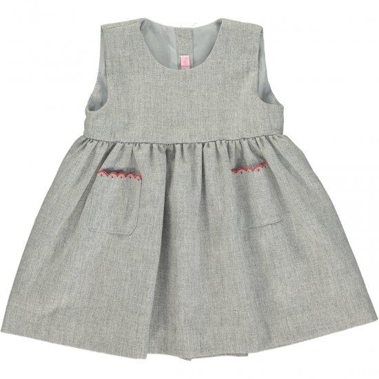 Amaia Kids - Pichi dress - Grey アマイアキッズ - ジャンパースカート