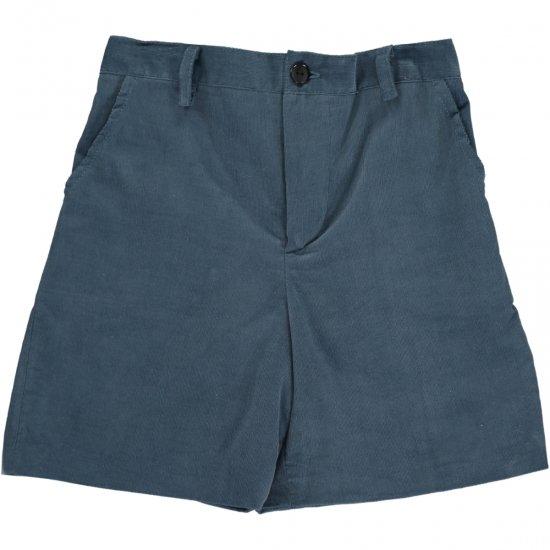 Amaia Kids - Gull shorts - Mid Blue アマイアキッズ - コーデュロイパンツ