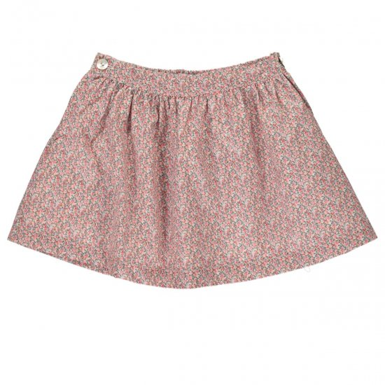 <img class='new_mark_img1' src='https://img.shop-pro.jp/img/new/icons14.gif' style='border:none;display:inline;margin:0px;padding:0px;width:auto;' />Amaia Kids - Eloise skirt - Liberty pink アマイアキッズ - リバティプリントスカート