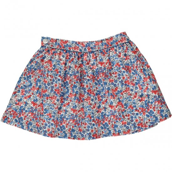 <img class='new_mark_img1' src='https://img.shop-pro.jp/img/new/icons14.gif' style='border:none;display:inline;margin:0px;padding:0px;width:auto;' />Amaia Kids - Eloise skirt - Liberty red アマイアキッズ - リバティプリントスカート