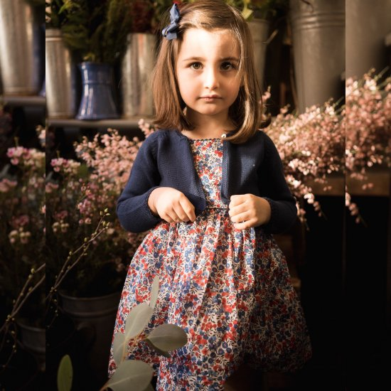 <img class='new_mark_img1' src='https://img.shop-pro.jp/img/new/icons14.gif' style='border:none;display:inline;margin:0px;padding:0px;width:auto;' />Amaia Kids - Lafayette dress - Liberty red アマイアキッズ - リバティプリントワンピース