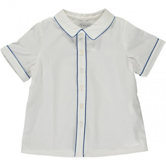 Amaia Kids - Daniel shirt shortsleeves - Mid Blue アマイアキッズ - シャツ