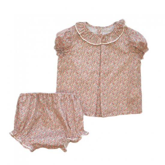 <img class='new_mark_img1' src='https://img.shop-pro.jp/img/new/icons20.gif' style='border:none;display:inline;margin:0px;padding:0px;width:auto;' />【50%OFF】Amaia Kids - Diane baby set - Liberty pink アマイアキッズ - リバティプリントセットアップ