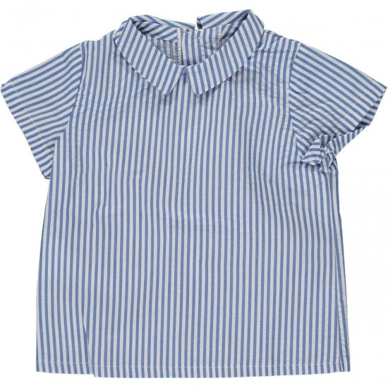 <img class='new_mark_img1' src='https://img.shop-pro.jp/img/new/icons14.gif' style='border:none;display:inline;margin:0px;padding:0px;width:auto;' />Amaia Kids - Mallard shirt - Blue stripe アマイアキッズ - シャツ