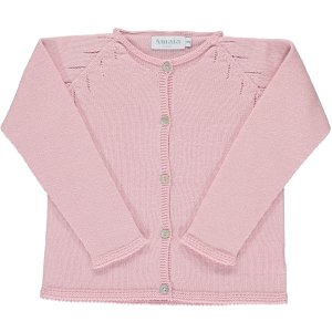 <img class='new_mark_img1' src='https://img.shop-pro.jp/img/new/icons14.gif' style='border:none;display:inline;margin:0px;padding:0px;width:auto;' />Amaia Kids - Iris cardigan - Pink アマイアキッズ - コットンカーディガン