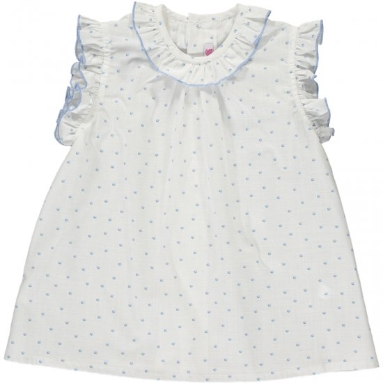 <img class='new_mark_img1' src='https://img.shop-pro.jp/img/new/icons20.gif' style='border:none;display:inline;margin:0px;padding:0px;width:auto;' />【50%OFF】Amaia Kids - Trinite top - Blue アマイアキッズ - ブラウス