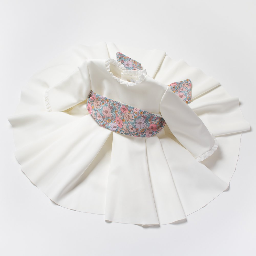 <img class='new_mark_img1' src='https://img.shop-pro.jp/img/new/icons14.gif' style='border:none;display:inline;margin:0px;padding:0px;width:auto;' />Amaia Kids - Eugenie dress - Liberty pink アマイアキッズ - リバティサッシュドレス