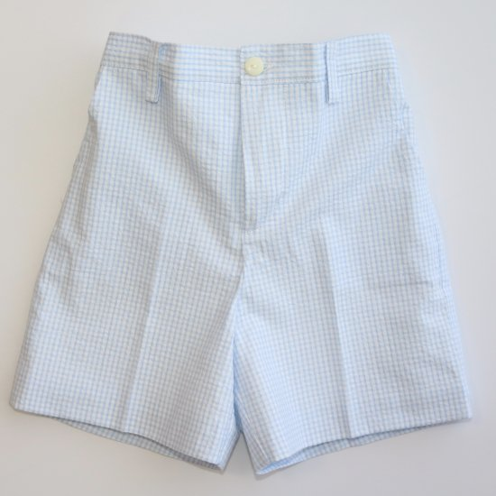 <img class='new_mark_img1' src='https://img.shop-pro.jp/img/new/icons14.gif' style='border:none;display:inline;margin:0px;padding:0px;width:auto;' />Amaia Kids - Gull shorts - Blue gingham アマイアキッズ - パンツ