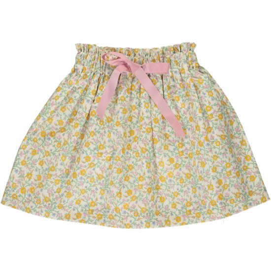 <img class='new_mark_img1' src='https://img.shop-pro.jp/img/new/icons14.gif' style='border:none;display:inline;margin:0px;padding:0px;width:auto;' />Amaia Kids - Anna skirt - Liberty yellow アマイアキッズ - リバティプリントスカート