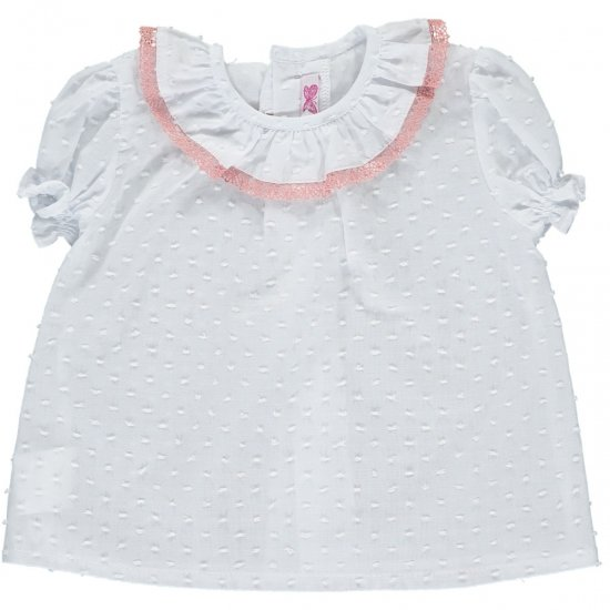 <img class='new_mark_img1' src='https://img.shop-pro.jp/img/new/icons20.gif' style='border:none;display:inline;margin:0px;padding:0px;width:auto;' />【50%OFF】Amaia Kids - Kensington top - Pink lace アマイアキッズ - ブラウス