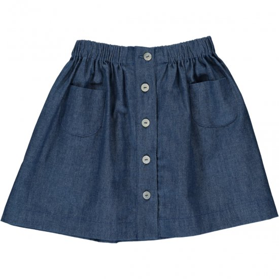 <img class='new_mark_img1' src='https://img.shop-pro.jp/img/new/icons14.gif' style='border:none;display:inline;margin:0px;padding:0px;width:auto;' />Amaia Kids - Juliette Skirt - Denim アマイアキッズ - スカート
