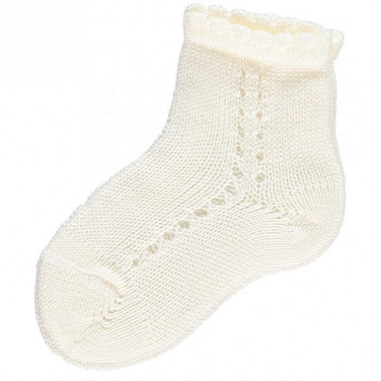 Amaia Kids - Openwork short socks - Ivory アマイアキッズ - ソックス