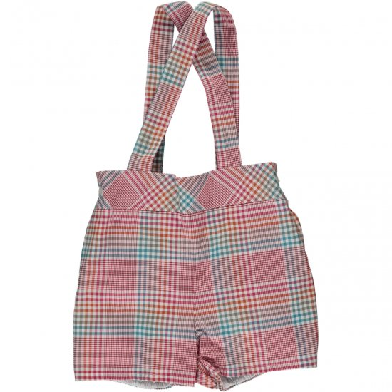 <img class='new_mark_img1' src='https://img.shop-pro.jp/img/new/icons14.gif' style='border:none;display:inline;margin:0px;padding:0px;width:auto;' />Amaia Kids - Spinach shorts - Plaid アマイアキッズ - チェックパンツ
