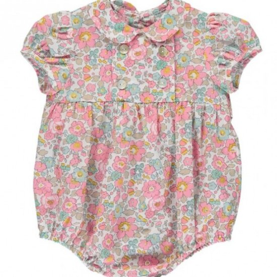 <img class='new_mark_img1' src='https://img.shop-pro.jp/img/new/icons20.gif' style='border:none;display:inline;margin:0px;padding:0px;width:auto;' />【30%OFF】 Amaia Kids - Babydoll all in one - Liberty アマイアキッズ - リバティプリントベビーロンパース