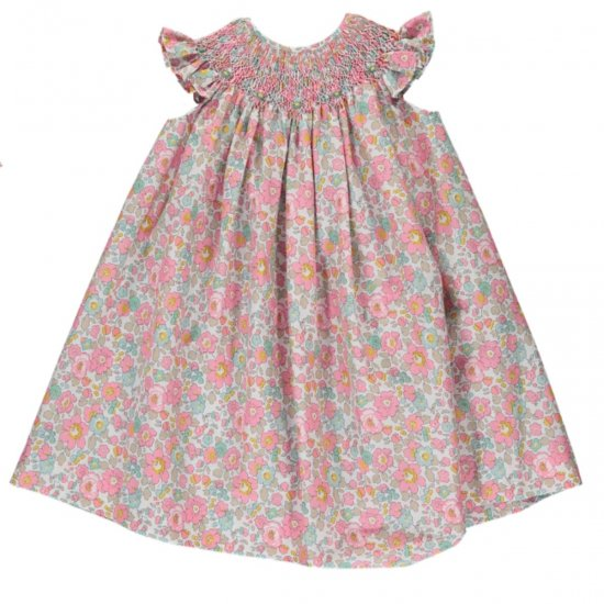 <img class='new_mark_img1' src='https://img.shop-pro.jp/img/new/icons20.gif' style='border:none;display:inline;margin:0px;padding:0px;width:auto;' />【40%OFF】Amaia Kids - Butterfly dress - Liberty pink アマイアキッズ - リバティプリントワンピース