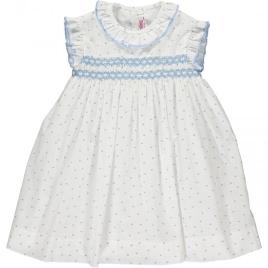 <img class='new_mark_img1' src='https://img.shop-pro.jp/img/new/icons14.gif' style='border:none;display:inline;margin:0px;padding:0px;width:auto;' />Amaia Kids - Carnac dress アマイアキッズ - スモッキング刺繍ワンピース