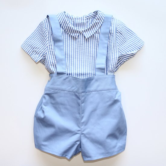 <img class='new_mark_img1' src='https://img.shop-pro.jp/img/new/icons20.gif' style='border:none;display:inline;margin:0px;padding:0px;width:auto;' />【40%OFF】Amaia Kids - Spinach shorts - Light blue アマイアキッズ - パンツ