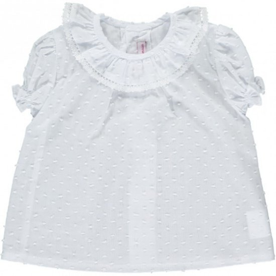 <img class='new_mark_img1' src='https://img.shop-pro.jp/img/new/icons20.gif' style='border:none;display:inline;margin:0px;padding:0px;width:auto;' />【50%OFF】Amaia Kids - Kensington top - White lace アマイアキッズ - ブラウス