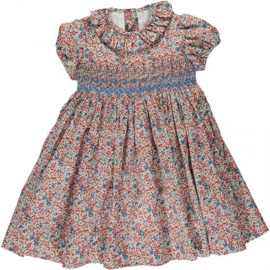 <img class='new_mark_img1' src='https://img.shop-pro.jp/img/new/icons20.gif' style='border:none;display:inline;margin:0px;padding:0px;width:auto;' />【40%OFF】Amaia Kids - Moohren dress - Liberty rust アマイアキッズ - リバティプリントワンピース