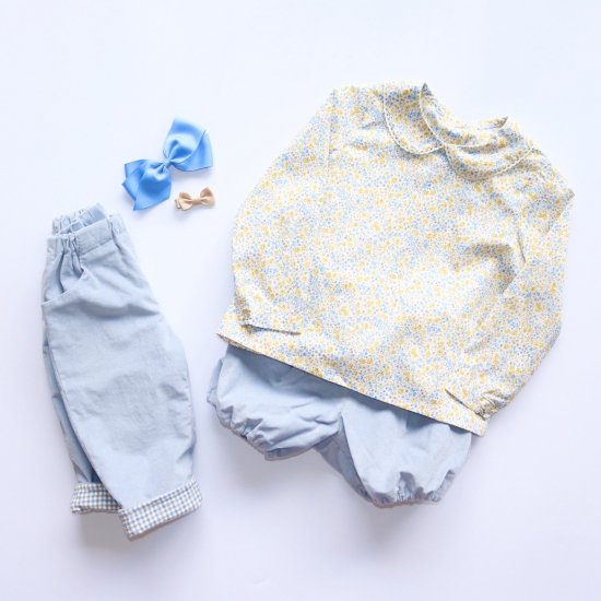 <img class='new_mark_img1' src='https://img.shop-pro.jp/img/new/icons14.gif' style='border:none;display:inline;margin:0px;padding:0px;width:auto;' />Amaia Kids - Coline blouse - Liberty yellow アマイアキッズ - リバティプリントブラウス
