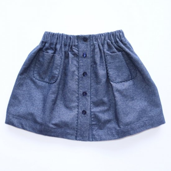 <img class='new_mark_img1' src='https://img.shop-pro.jp/img/new/icons14.gif' style='border:none;display:inline;margin:0px;padding:0px;width:auto;' />Amaia Kids - Juliette skirt - Denim アマイアキッズ - デニムスカート