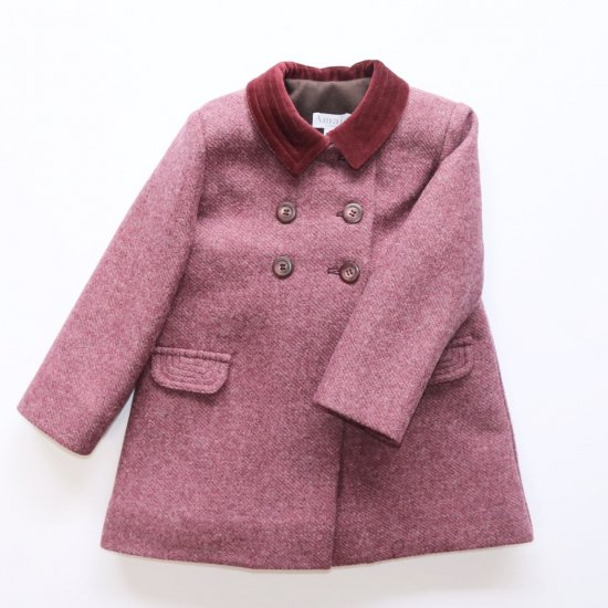 <img class='new_mark_img1' src='https://img.shop-pro.jp/img/new/icons14.gif' style='border:none;display:inline;margin:0px;padding:0px;width:auto;' />Amaia Kids - Classic coat - Burgundy アマイアキッズ - コート