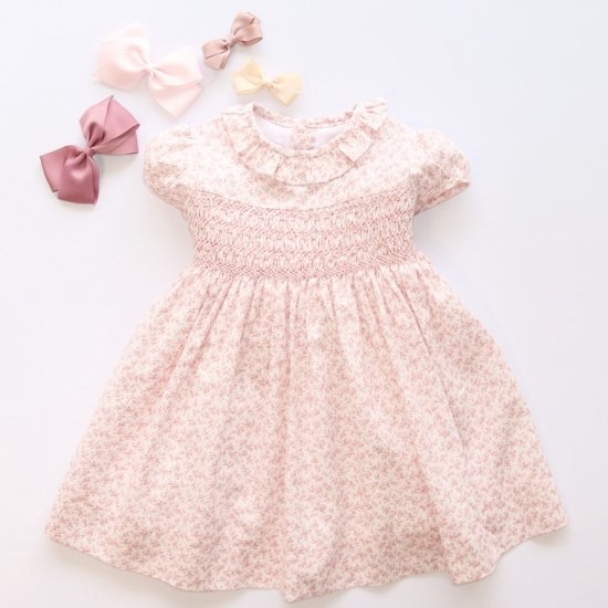 <img class='new_mark_img1' src='https://img.shop-pro.jp/img/new/icons14.gif' style='border:none;display:inline;margin:0px;padding:0px;width:auto;' />Amaia Kids - Moohren dress - Pink floral アマイアキッズ - 花柄ワンピース