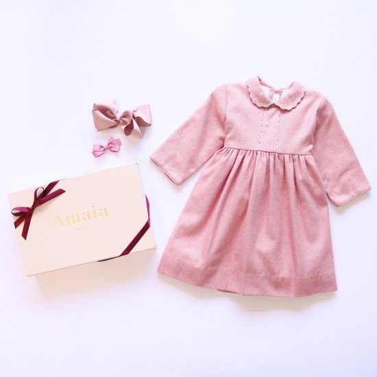 <img class='new_mark_img1' src='https://img.shop-pro.jp/img/new/icons14.gif' style='border:none;display:inline;margin:0px;padding:0px;width:auto;' />Amaia Kids - Eleonoire dress - Pink アマイアキッズ - ワンピース