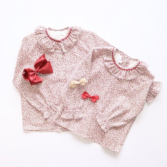 <img class='new_mark_img1' src='https://img.shop-pro.jp/img/new/icons14.gif' style='border:none;display:inline;margin:0px;padding:0px;width:auto;' />Amaia Kids - Gloria blouse - Cherry アマイアキッズ- チェリー柄ブラウス