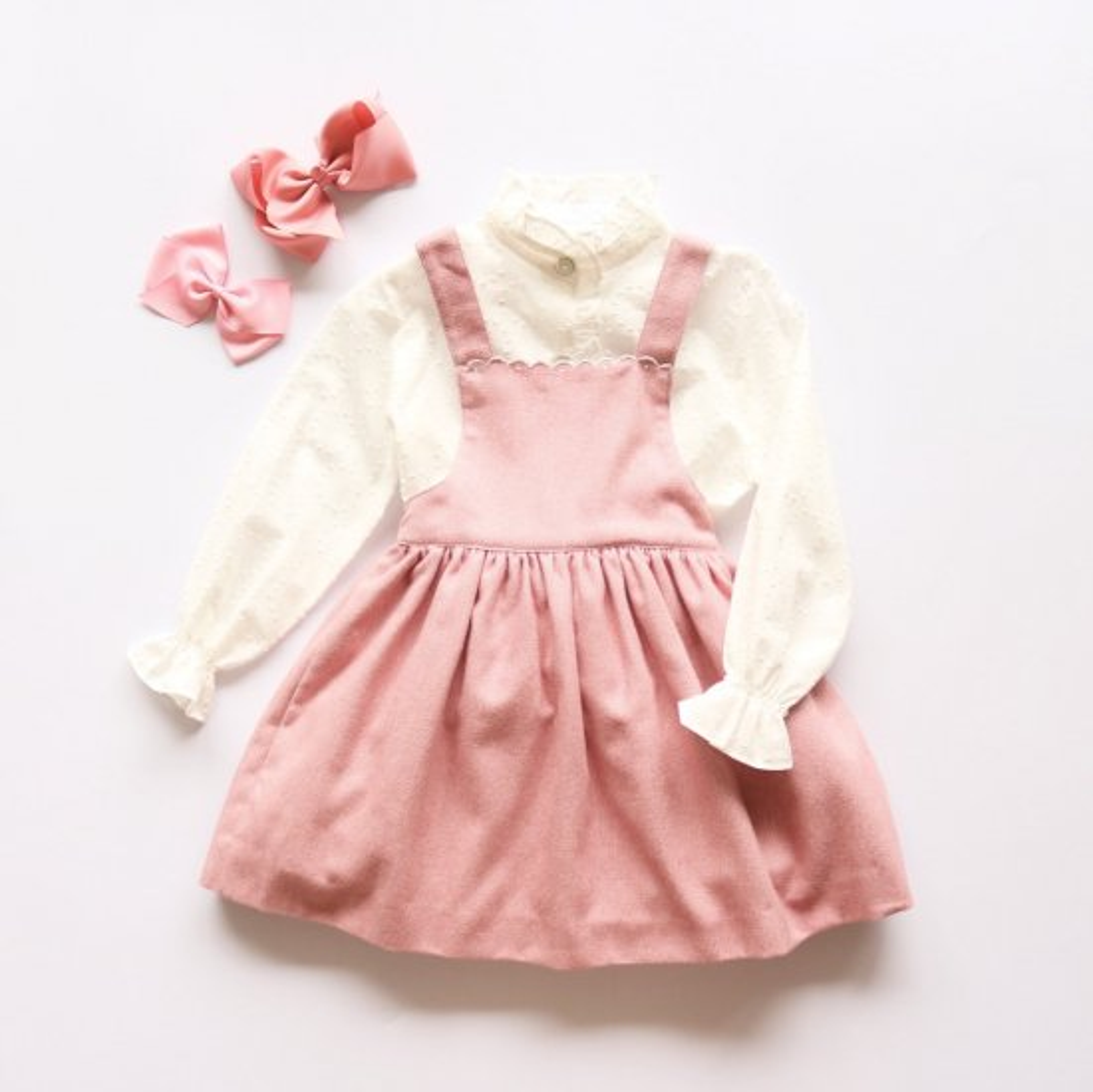 <img class='new_mark_img1' src='https://img.shop-pro.jp/img/new/icons14.gif' style='border:none;display:inline;margin:0px;padding:0px;width:auto;' />Amaia Kids - Pichi dress - Pink アマイアキッズ - ジャンパースカート