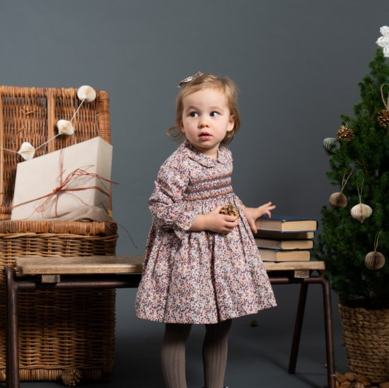 <img class='new_mark_img1' src='https://img.shop-pro.jp/img/new/icons14.gif' style='border:none;display:inline;margin:0px;padding:0px;width:auto;' />Amaia Kids - Jujube dress - Liberty rust アマイアキッズ - リバティプリントワンピース