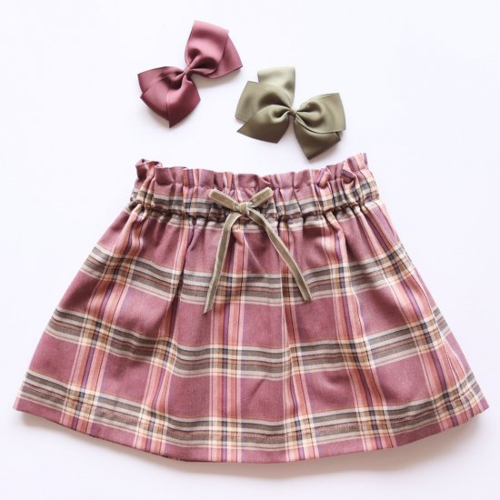 <img class='new_mark_img1' src='https://img.shop-pro.jp/img/new/icons14.gif' style='border:none;display:inline;margin:0px;padding:0px;width:auto;' />Amaia Kids - Anna skirt - Plum tartan アマイアキッズ - チェック柄スカート