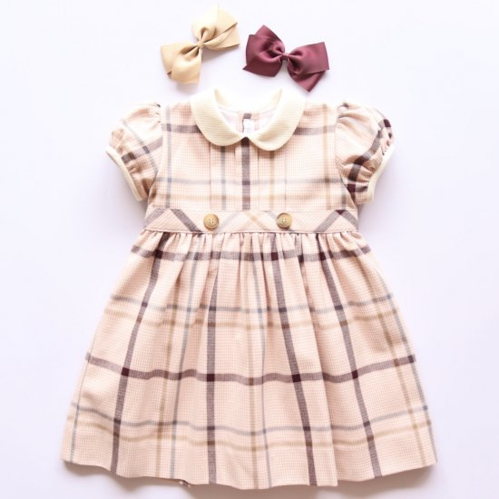 <img class='new_mark_img1' src='https://img.shop-pro.jp/img/new/icons14.gif' style='border:none;display:inline;margin:0px;padding:0px;width:auto;' />Amaia Kids - Corneta dress アマイアキッズ - チェック柄ワンピース