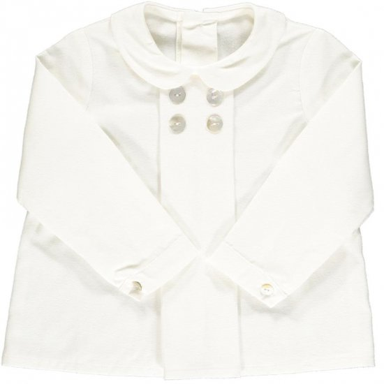 <img class='new_mark_img1' src='https://img.shop-pro.jp/img/new/icons14.gif' style='border:none;display:inline;margin:0px;padding:0px;width:auto;' />Amaia Kids - Thomas shirt - Off White アマイアキッズ - シャツ
