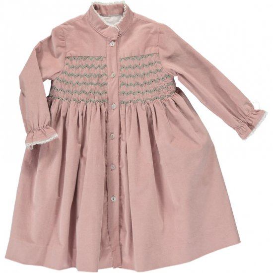 <img class='new_mark_img1' src='https://img.shop-pro.jp/img/new/icons14.gif' style='border:none;display:inline;margin:0px;padding:0px;width:auto;' />Amaia Kids - Ines dress - Pink アマイアキッズ - コーデュロイワンピース