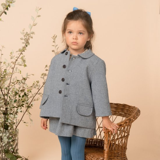 <img class='new_mark_img1' src='https://img.shop-pro.jp/img/new/icons14.gif' style='border:none;display:inline;margin:0px;padding:0px;width:auto;' />Amaia Kids - Julian Jacket - Blue herringbone アマイアキッズ - ジャケット