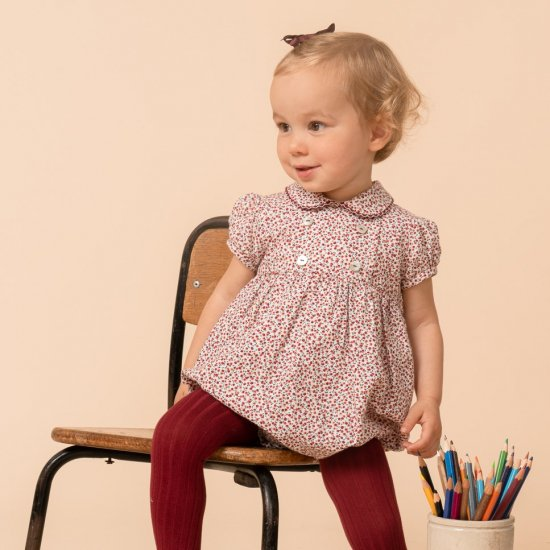<img class='new_mark_img1' src='https://img.shop-pro.jp/img/new/icons14.gif' style='border:none;display:inline;margin:0px;padding:0px;width:auto;' />Amaia Kids - Felicidad romper Short sleeves - Cherry アマイアキッズ - チェリー柄ロンパース