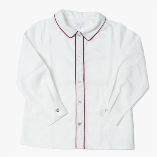<img class='new_mark_img1' src='https://img.shop-pro.jp/img/new/icons14.gif' style='border:none;display:inline;margin:0px;padding:0px;width:auto;' />Amaia Kids - Daniel shirt long-sleeves - Burgundy アマイアキッズ - 長袖シャツ
