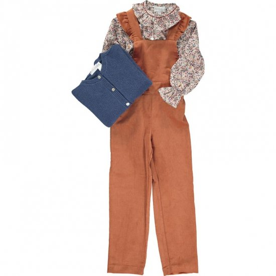 <img class='new_mark_img1' src='https://img.shop-pro.jp/img/new/icons14.gif' style='border:none;display:inline;margin:0px;padding:0px;width:auto;' />Amaia Kids - Berenice jumpsuit - Burnt orange アマイアキッズ - オーバーオール