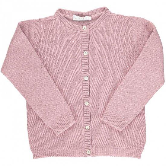 <img class='new_mark_img1' src='https://img.shop-pro.jp/img/new/icons14.gif' style='border:none;display:inline;margin:0px;padding:0px;width:auto;' />Amaia Kids - Moana cardigan - Pink アマイアキッズ - ウールカーディガン