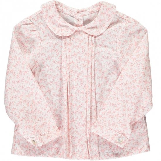 <img class='new_mark_img1' src='https://img.shop-pro.jp/img/new/icons14.gif' style='border:none;display:inline;margin:0px;padding:0px;width:auto;' />Amaia Kids - Coline blouse - Pink floral アマイアキッズ - 花柄ブラウス