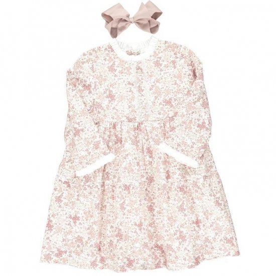 <img class='new_mark_img1' src='https://img.shop-pro.jp/img/new/icons14.gif' style='border:none;display:inline;margin:0px;padding:0px;width:auto;' />Amaia Kids - Ary dress - Pink floral アマイアキッズ - 花柄ワンピース