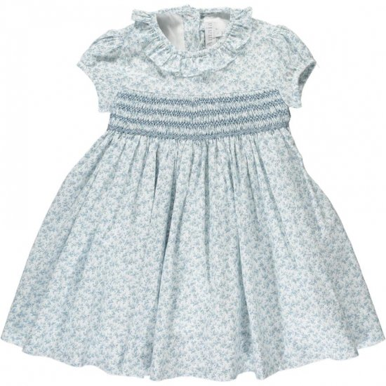 <img class='new_mark_img1' src='https://img.shop-pro.jp/img/new/icons14.gif' style='border:none;display:inline;margin:0px;padding:0px;width:auto;' />Amaia Kids - Moohren dress - Blue floral アマイアキッズ - 花柄ワンピース