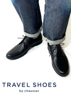 TRAVEL SHOES by chausser <br>TR-008M BLK