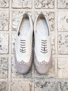 TRAVEL SHOES  / TR-004<br>WHT×GRYスウェード (ground限定モデル)