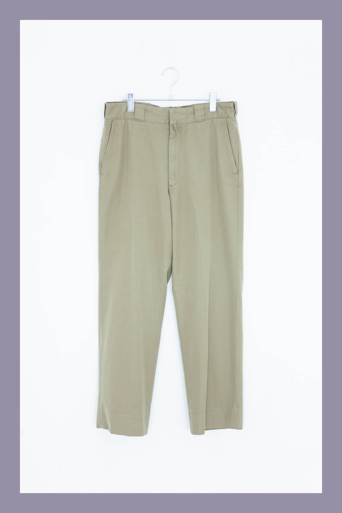 COMOLI / COTTON GABBER WASH PANTS