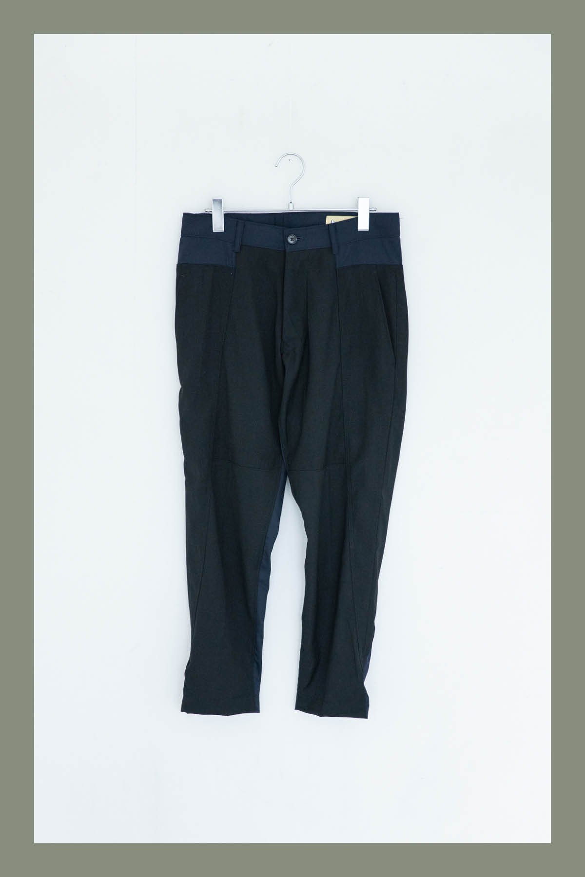ORIGINAL MADE by IMA:ZINE / TAPERED SLACKS(NAVY × BLACK)