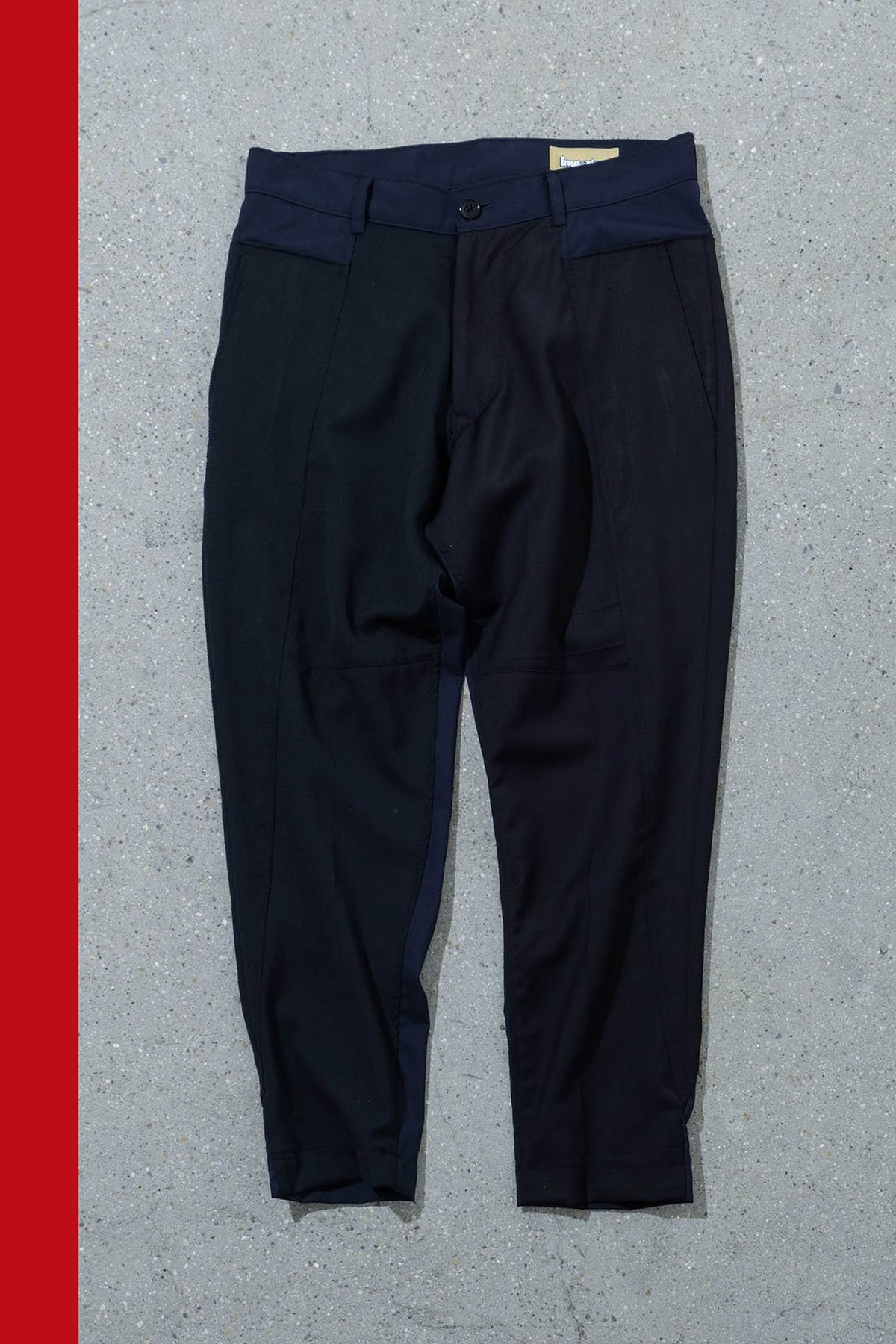 ORIGINAL MADE by IMA:ZINE / TAPERED SLACKS(NAVY × NAVY)