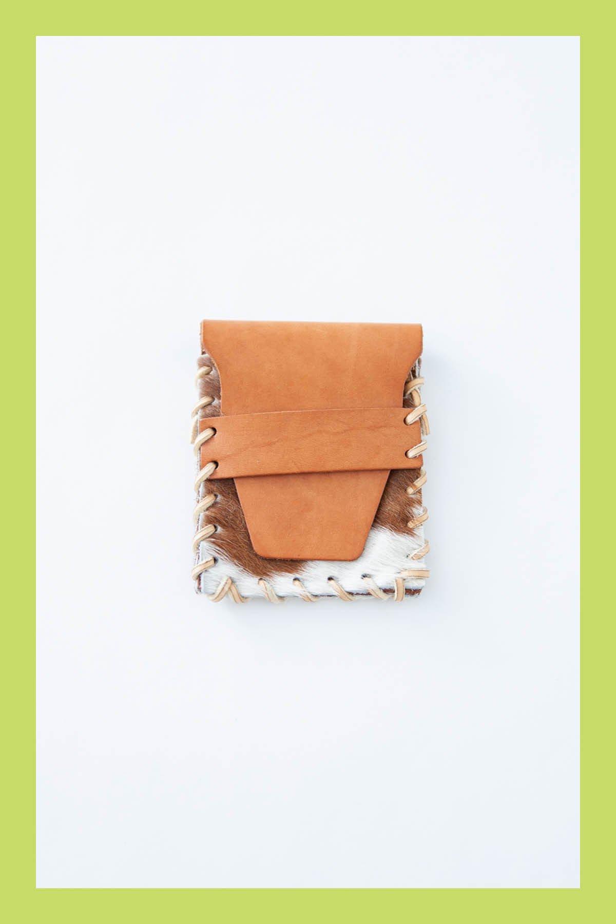 Amish / CARD CASE (UNBORN CALF)